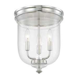 Capital Ceilings Polished Nickel Three-Light Flush Mount