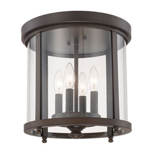 Capital Ceilings Burnished Bronze Four-Light Flush Mount