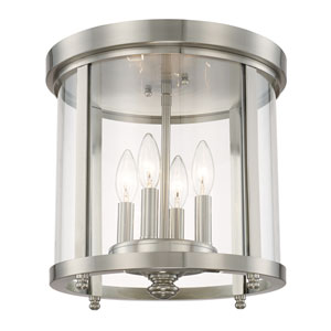 Capital Ceilings Brushed Nickel Four-Light Flush Mount