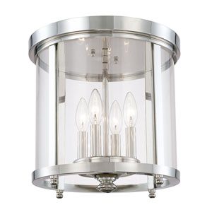 Capital Ceilings Polished Nickel Four-Light Flush Mount
