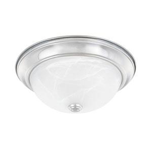 Chrome 13-Inch Two-Light Flush Mount