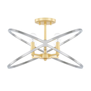 Fire and Ice Four-Light Semi Flush