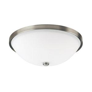 Covington Antique Nickel Three-Light Ceiling Fixture