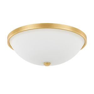 Capital Gold Three-Light Flush Mount