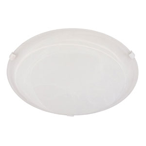 White Three-Light Flush Mount