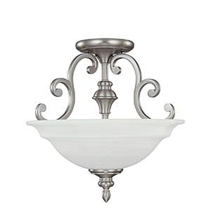 Chandler Matte Nickel Semi-Flush Ceiling Light