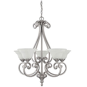 Chandler Matte Nickel Five-Light Chandelier