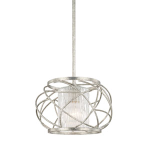 Riviera Antique Silver One-Light Pendant