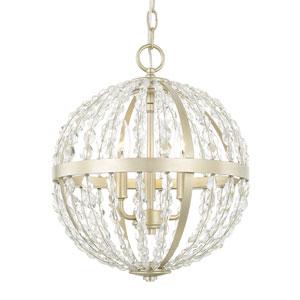 Camille Soft Gold Three-Light Pendant