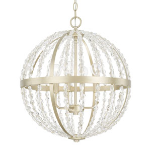 Camille Soft Gold Four-Light Pendant