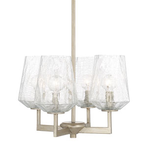 Arden Brushed Silver Four-Light Mini Chandelier