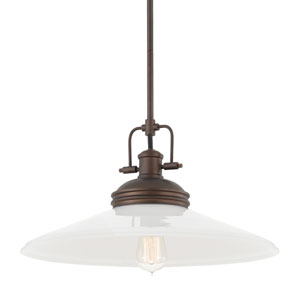 Burnished Bronze One-Light 19-Inch Wide Pendant