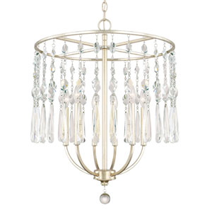 Juliette Winter Gold Six-Light 22.5-Inch Wide Chandelier
