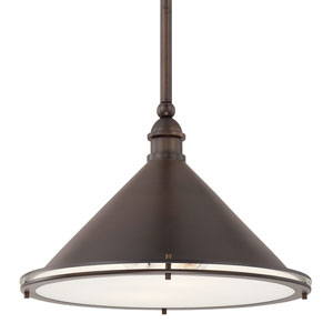 Langley Burnished Bronze Two-Light Pendant