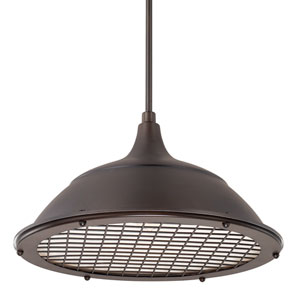 Burnished Bronze One-Light 18-Inch Wide Pendant