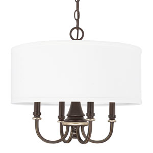 Asher Champagne Bronze Four-Light Pendant