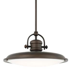 Burnished Bronze One-Light LED 16-Inch Wide Pendant