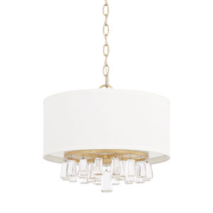 Milan Capital Gold 15-Inch Four-Light Pendant