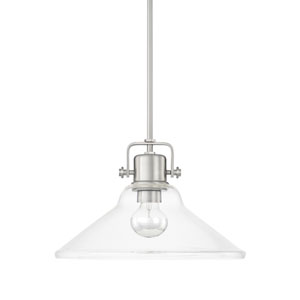 Brushed Nickel 16-Inch One-Light Pendant