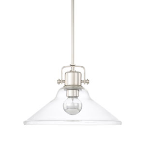 Polished Nickel 16-Inch One-Light Pendant
