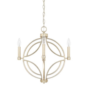 Mercer Winter Gold 18-Inch Four-Light Pendant