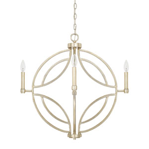 Mercer Winter Gold 25-Inch Four-Light Pendant