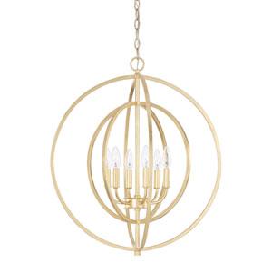 Capital Gold Six-Light Pendant