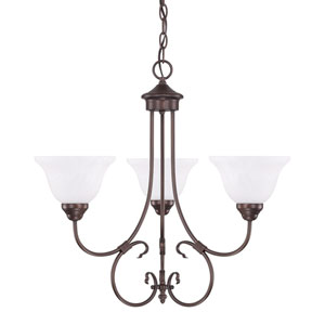Hometown Bronze 24-Inch Three-Light Chandelier