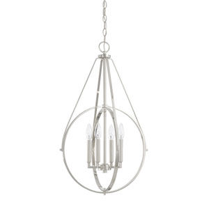 Polished Nickel Four-Light Pendant