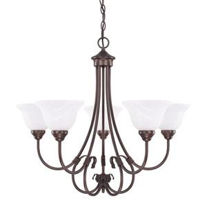 Hometown Bronze Five-Light Chandelier