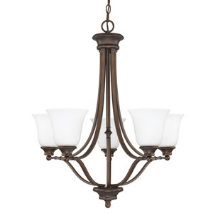 Belmont Chandelier with Soft White Glass