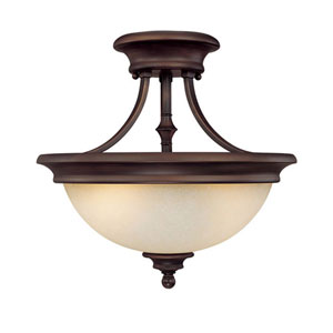 Belmont Burnished Bronze Semi-Flush Ceiling Light