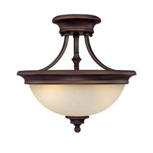 Belmont Burnished Bronze Semi-Flush Ceiling Light