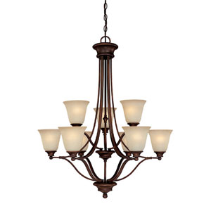 Belmont Burnished Bronze Nine-Light Chandelier