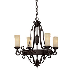 River Crest Four-Light Chandelier