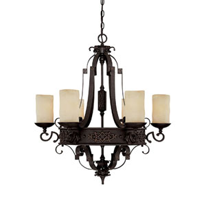River Crest Six-Light Chandelier
