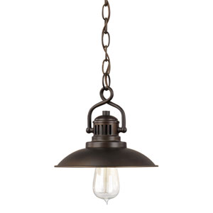 Oneill Burnished Bronze One-Light Mini-Pendant