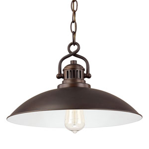 Oneill Burnished Bronze One-Light Pendant
