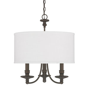 Midtown Burnished Bronze Three-Light Chandelier