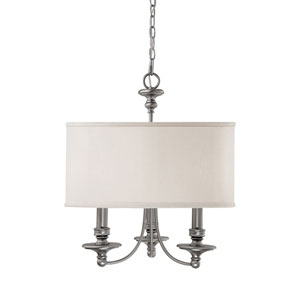 Midtown Matte Nickel Three-Light Chandelier