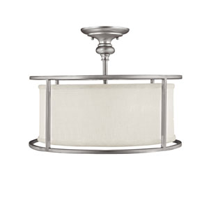 Midtown Matte Nickel Three-Light Semi-Flush