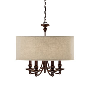 Midtown Burnished Bronze Five-Light Chandelier