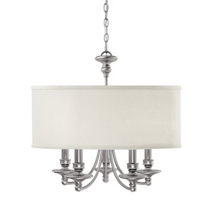 Midtown Matte Nickel Five-Light Chandelier