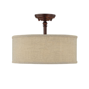 Loft Burnished Bronze Semi-Flush