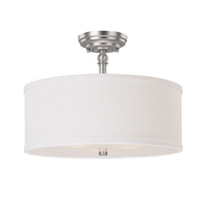 Loft Matte Nickel Semi-Flush