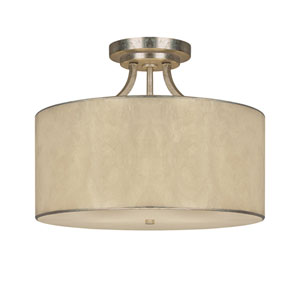 Luna Winter Gold Three-Light Semi-Flush