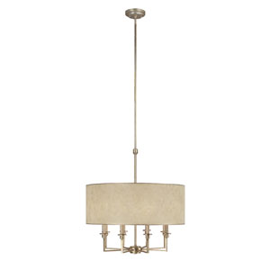 Luna Winter Gold Eight-Light Pendant