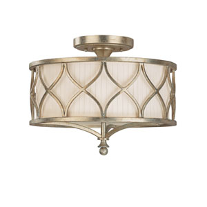 Fifth Avenue Winter Gold Three-Light Semi-Flush