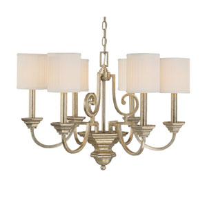 Fifth Avenue Winter Gold Six-Light Chandelier