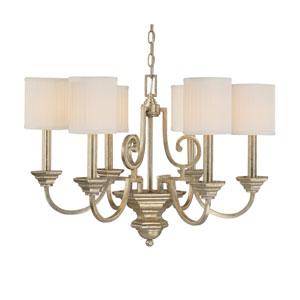 Fifth Avenue Winter Gold Six-Light Chandelier